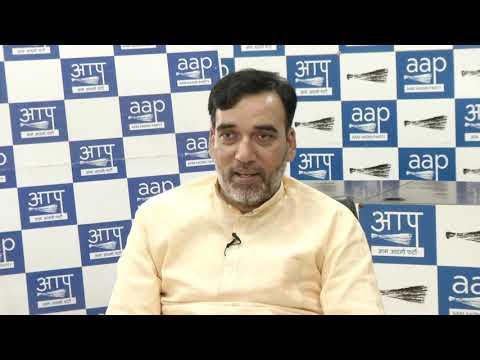 AAP Delhi Convenor Gopal rai Live Session on Why Statehood Matters For Delhi?