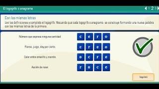 Actividades dislexia y lectoescritura Logogrifos