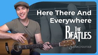 Here, There And Everywhere - The Beatles - Acoustic Guitar Lesson (SB-127) fingerstyle