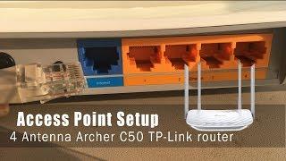 Richten Sie den Zugriffspunktmodus für die TP-Link 4-Antenne ein - Archer C50