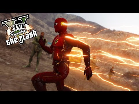 Claymmorez Speedster VS Aliens! (GTA 5 Flash Mod Gameplay)