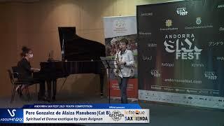 Pere Gonzalez de Alaiza Manubens plays Spiritual et Danse exotique by Jean Avignon