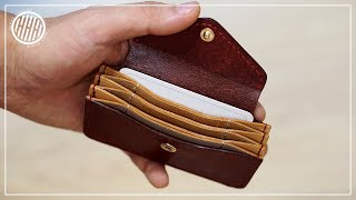 [Leather Craft] Multi-layers Card Holder / How To / Making