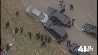 Full video: Police chase down Chiefs Kingdom Champions Parade route