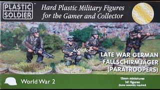 PLASTIC SOLDIER - LATE WAR GERMAN FALLSCHIRMJAGER (PARATROOPERS) - UNBOXING