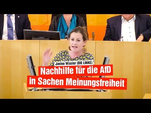Janine Wissler (DIE LINKE): Nachhilfe für die AfD in Sachen Meinungsfreiheit