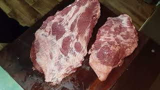 Separating the brisket point from the flat - Pit's Perfect style!