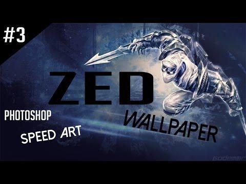 Wallpaper in Photoshop - League of Legends (ZED) #3