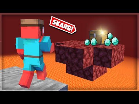 💎 Znalazłem UKRYTĄ WYSPĘ z DIAMENTAMI w Netherze! Minecraft Skyblock #5
