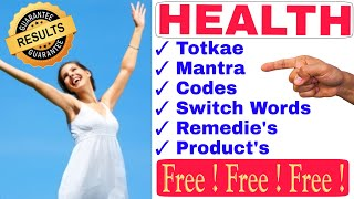 [100% RESULTS] | Paid Remedies at FREE | HEALTH - Totke, Codes, Mantra