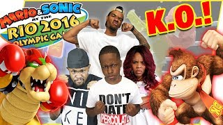 BIG TIME KNOCKOUTS! Mav3riq Fam Boxing Tournament! - Mario & Sonic Rio Olympics Gamepaly