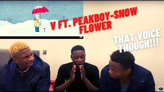 WHAT THE HELL IS V'S VOICE?! SNOW FLOWER (FEAT. PEAKBOY) NEW SONG