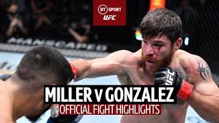 Jim Miller v Erick Gonzalez | Huge KO and UFC record! | UFC Fight Highlights