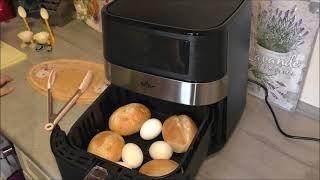 Frühstück!!!  Brötchen und Eier zusammen im Air Fryer gemacht - ein kleiner Test