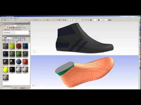 ICad3D+ Design - 3D Shoe Design software (sneaker sample)