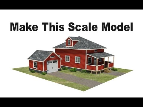 Scale Model Houses | Make these model railroad houses in HO