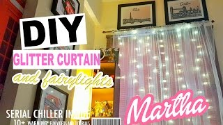 DIY CURTAINS WITH FAIRY LIGHTS (DO IT YOURSELF)