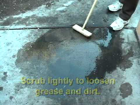 How to Clean Concrete Floors with QUICK DEGREASER