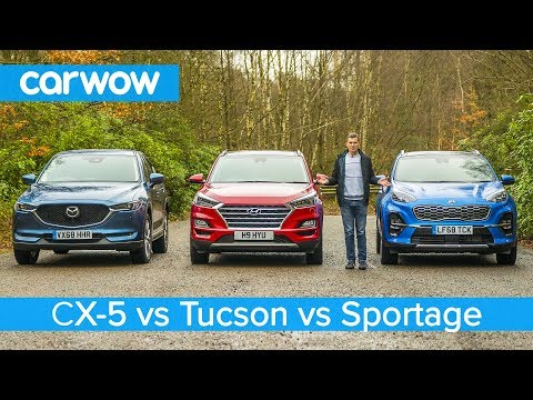 Mazda CX-5 v Hyundai Tucson v Kia Sportage - which is the best affordable SUV?