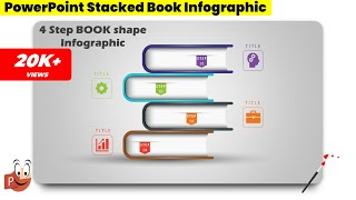 54.Create 4 Step BOOK Shape Infographic📚🔥🔥🔥/Powerpoint Infographics/Graphic Design/Free Template