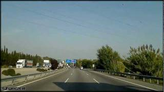 preview picture of video '339 - Spain. Autopista del Mediterráneo AP7 E15 - Sant Cugat - Barberá [HD]'