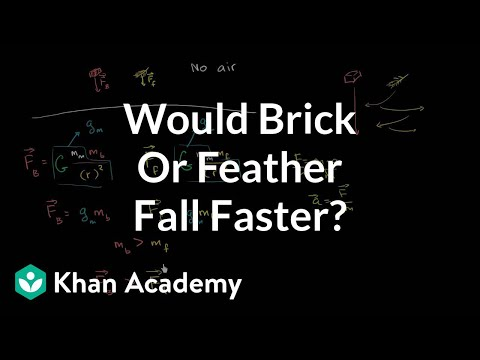 Would a brick or feather fall faster? (video) | Khan Academy