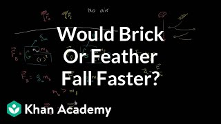 Would a Brick or Feather Fall Faster