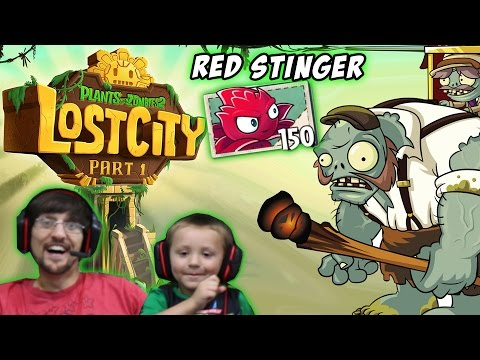 Chase & Dad Play PVZ 2 Lost City World 1 2 3 & 4: Red Stinger (AWESOME NEW UPDATE) - FGTeeV