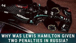 Why was Lewis Hamilton given two penalties at the Russian Grand Prix? - F1 News 28 09 20