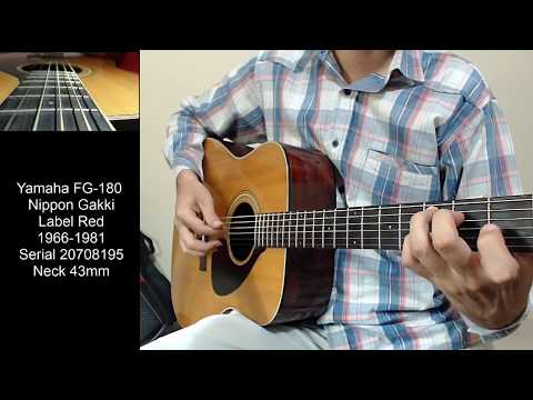 Guitarra Yamaha FG-180 Nippon Gakki