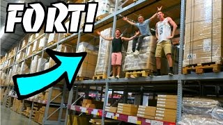 EPIC FORT IN IKEA RAFTERS!
