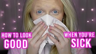 How to Look Good When You're SICK 🤒- Makeup Tutorial (well... kinda)