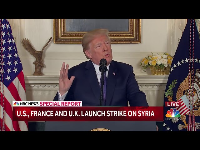 President Trump Announces Precision Strikes In Syria