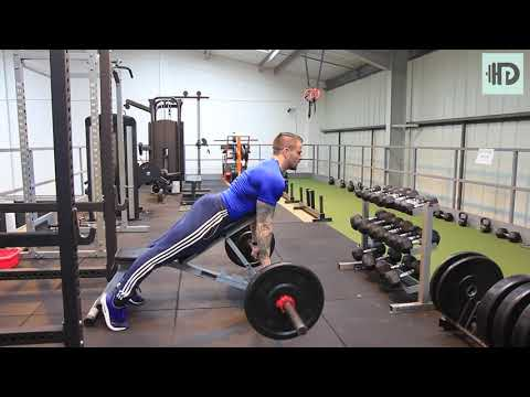 Bench supported barbell row V1