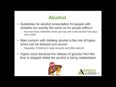 Alkohol senkt den Blutzucker
