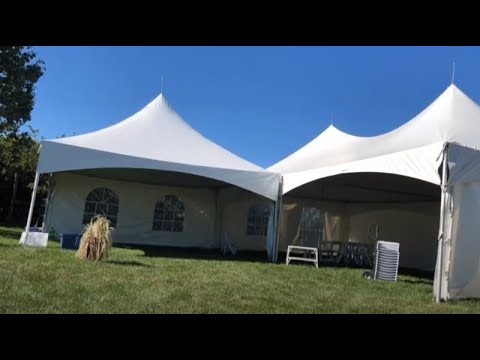 Solo Marquee Event Tent Take-down: 20x40 & 20x20 & Tables & Chairs
