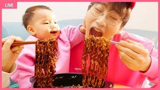 뽀로로 짜장면 엄마 삼촌 함께 먹어요! 인기영상 40분모음 요리놀이 장난감 놀이 Pororo Noodle pretend play with kids toys | MariAndKids