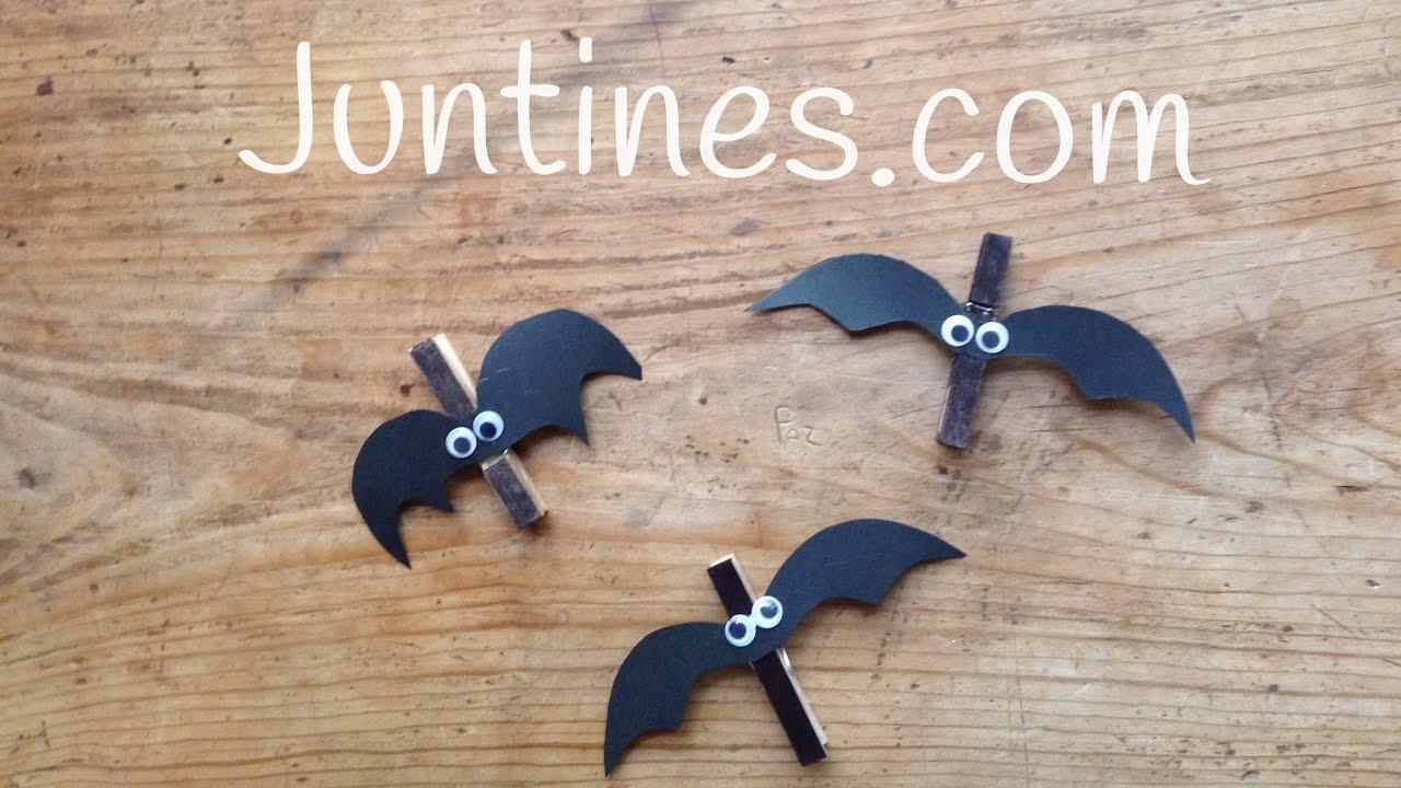Manualidades de Halloween para niños: Murciélagos