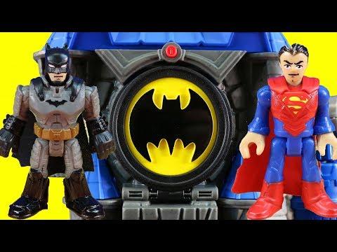 Imaginext Wayne Manor Batcave Toy Review + Justice League & Batman Put Joker In Jail