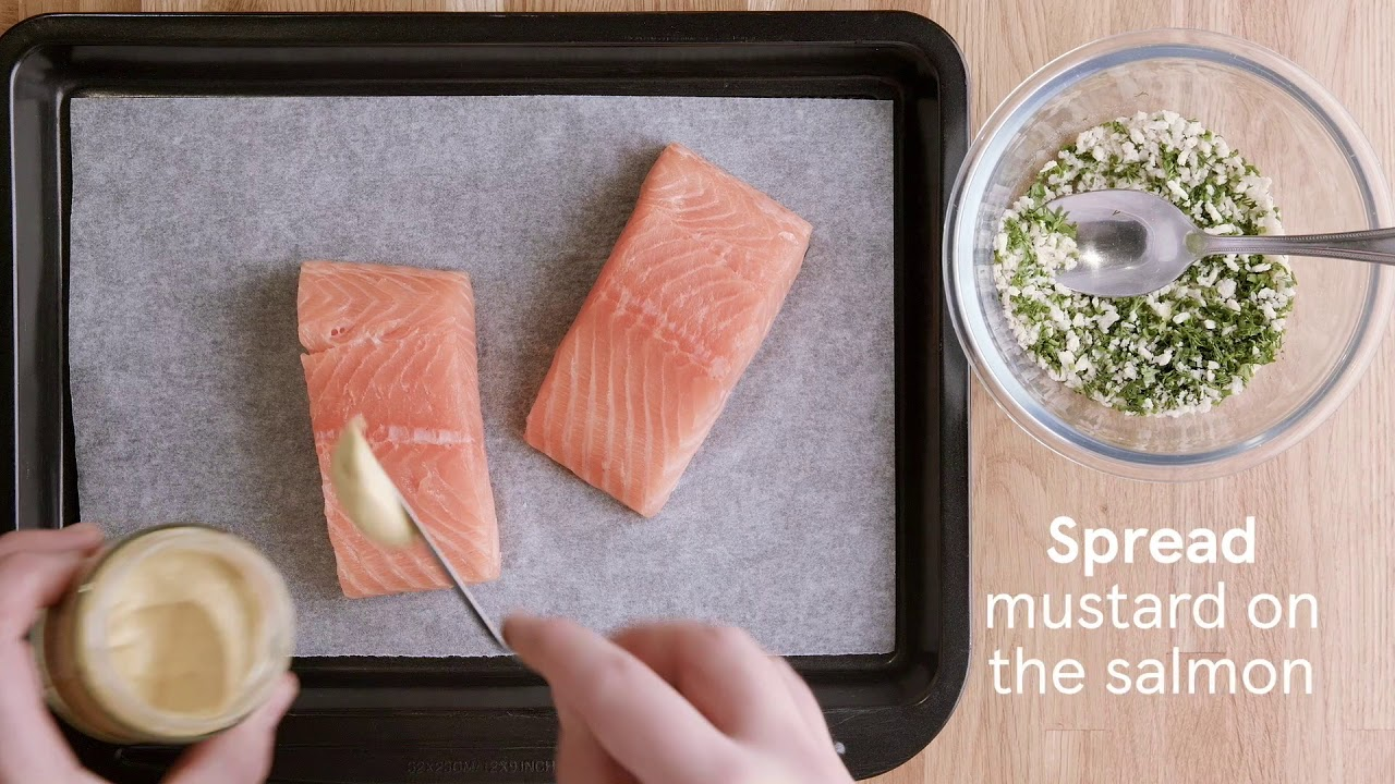 How to cook salmon with a crust