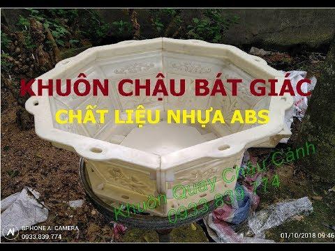 Bộ Khuôn Chậu Cảnh Bát Giác - Chất Liệu Nhựa ABS