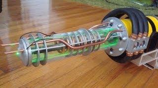 Плазменная пушка(рельсотрон) электромагнитная пушка,электротермическое оружие. Plasma gun