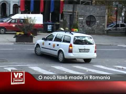 O nouă taxă made în România