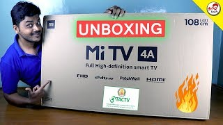 MiTv 4A (43 inch) Unboxing , Setup with TamilNadu Cable | Tamil Tech
