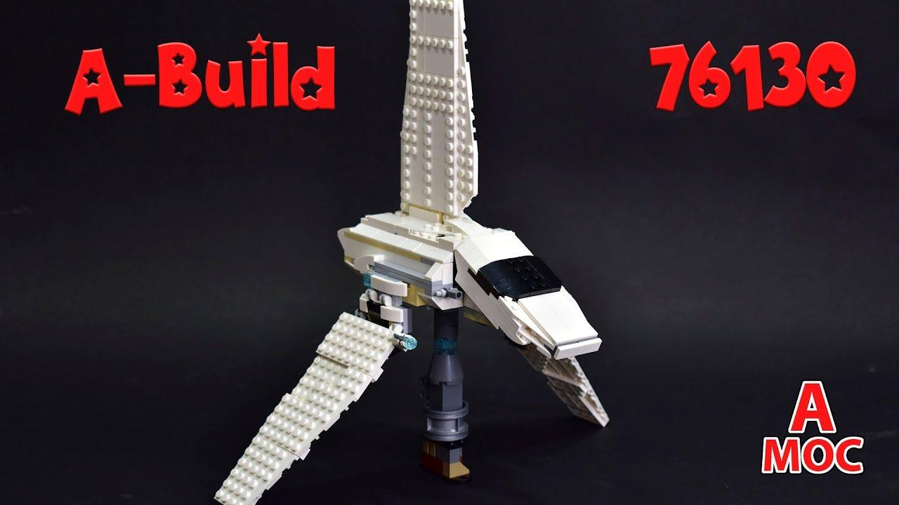 LEGO Star Wars Lambda-class T-4a shuttle made from Spider Man set 76130 alternative build (A MOC)