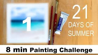 DAY 1 Watercolor Painting Challenge TAG: #maria21daysofsummer