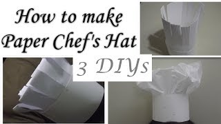 How To Make Chef's Hat For Kids/DIY Καπέλο Master Chef για παιδιά