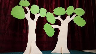 Paper Tree | How To Make Tree Using Paper And Cardboard | DIY Tree