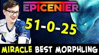 BEST Morphling of EPICENTER — 51/0/25 in all games by MIRACLE