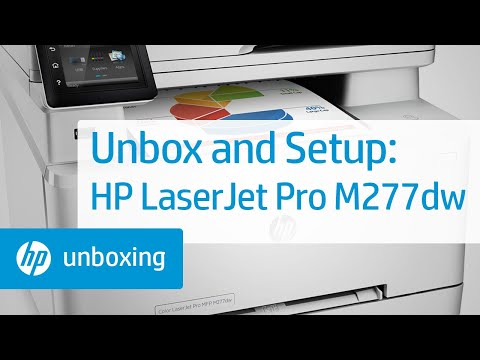 Unboxing, Setting Up, and Installing the HP Color LaserJet Pro MFP M277dw